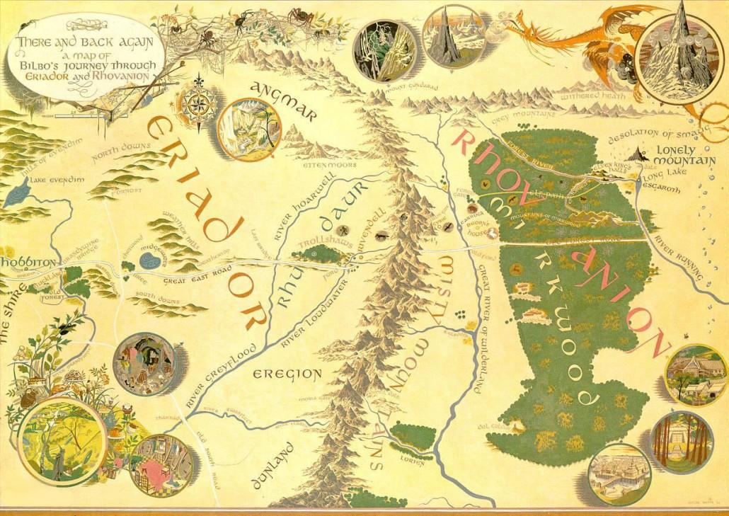 Карта на Средната земя