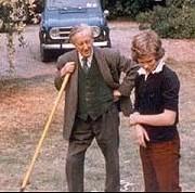 Саймън Толкин с дядо си